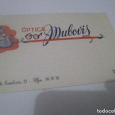 Coleccionismo Papel Varios: ANTIGUA TARJETA PRESUPUESTO GAFAS ÓPTICA MUBOÍS .UTRERA. SEVILLA AÑOS 70. Lote 115296703
