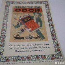 Coleccionismo Papel Varios: RECORTE PUBLICIDAD AÑOS 30. INSECTICIDADA ODOR . Lote 115298863