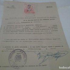 Coleccionismo Papel Varios: DOCUMENTO DE BUENA CONDUCTA PARA INGRESO EJERCITO AIRE. GUARDIA CIVIL DE UTRERA 1957. Lote 115299291