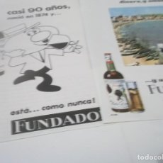 Coleccionismo Papel Varios: RECORTES PUBLICIDAD AÑOS 60 - BRANDY COÑAC FUNDADOR. Lote 115347931