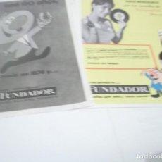 Coleccionismo Papel Varios: RECORTES PUBLICIDAD AÑOS 60 - BRANDY COÑAC FUNDADOR. Lote 115347963