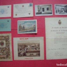 Coleccionismo Papel Varios: BARCELONA.-EXPOSICION INTERNACIONAL.-POSTALES.-FERIA OFICIAL DE MUESTRAS.-CASA PUJOL.-FARMACIA.. Lote 115360715