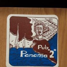 Coleccionismo Papel Varios: POSAVASOS...PUB PANAMÁ 2...SARDINERO...SANTANDER.... Lote 115361930