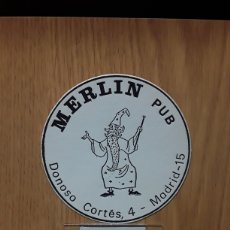Coleccionismo Papel Varios: POSAVASOS...PUB MERLÍN....MADRID..... Lote 115395662