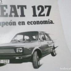 Coleccionismo Papel Varios: RECORTES PUBLICIDAD AÑOS 60 - COCHE SEAT 127. Lote 115532347