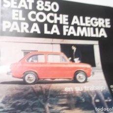 Coleccionismo Papel Varios: RECORTE PUBLICIDAD AÑOS 60 - COCHE SEAT 850. Lote 115532499