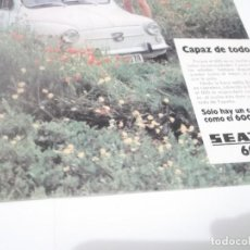 Coleccionismo Papel Varios: RECORTE PUBLICIDAD AÑOS 60 - COCHE SEAT 600. Lote 115532547