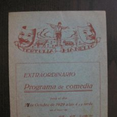 Coleccionismo Papel Varios: TERTULIA MANELIC -PROGRAMA- CATALUNYA A.A. -BARCELONA - ANYS 30 -VER FOTOS - (V-13.979). Lote 116369723