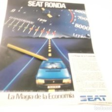 Coleccionismo Papel Varios: RECORTE PUBLICIDAD AÑOS 60/70 - AUTOMÓVIL SEAT RONDA. Lote 116442479