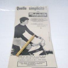 Coleccionismo Papel Varios: RECORTE PUBLICIDAD AÑOS 50/60 - MOTO-BICICLETA MOBYLETTE. Lote 116456867