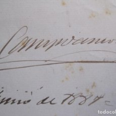 Coleccionismo Papel Varios: RAMON DE CAMPOAMOR - AUTOGRAFO FIRMA- CARTA AÑO 1887 -VER FOTOS-(V-14.060). Lote 116475471