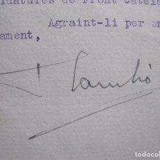 Coleccionismo Papel Varios: FRANCESC CAMBO - AUTOGRAFO FIRMA- CARTA AÑO 1936 -VER FOTOS-(V-14.061). Lote 116475559