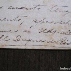 Coleccionismo Papel Varios: ENRIQUE RAMIREZ DE SAAVEDRA -DUQUE DE RIVAS - AUTOGRAFO FIRMA- CARTA AÑO 1881 -VER FOTOS-(V-14.062). Lote 116476363