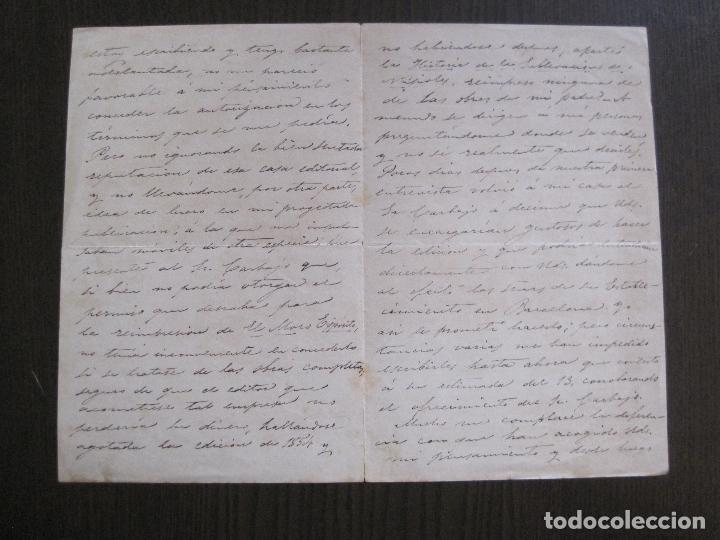 Coleccionismo Papel Varios: ENRIQUE RAMIREZ DE SAAVEDRA -DUQUE DE RIVAS - AUTOGRAFO FIRMA- CARTA AÑO 1881 -VER FOTOS-(V-14.062) - Foto 5 - 116476363