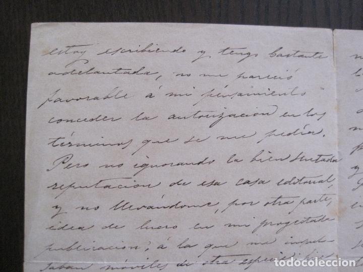 Coleccionismo Papel Varios: ENRIQUE RAMIREZ DE SAAVEDRA -DUQUE DE RIVAS - AUTOGRAFO FIRMA- CARTA AÑO 1881 -VER FOTOS-(V-14.062) - Foto 6 - 116476363