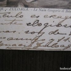Coleccionismo Papel Varios: IGNACIO ZULOAGA - AUTOGRAFO FIRMA- POSTAL AÑO 1908 -VER FOTOS-(V-14.083). Lote 116480907