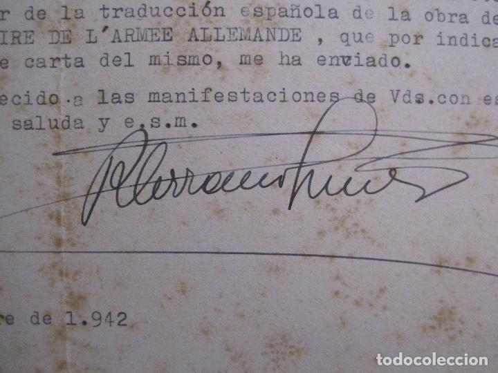 RAMON SERRANO SUÑER - AUTOGRAFO FIRMA- AÑO 1942 -VER FOTOS-(V-14.088) (Coleccionismo en Papel - Varios)
