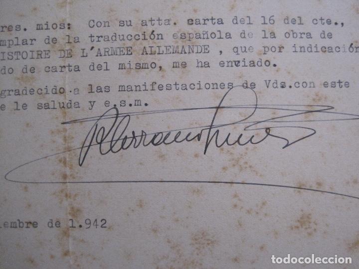Coleccionismo Papel Varios: RAMON SERRANO SUÑER - AUTOGRAFO FIRMA- AÑO 1942 -VER FOTOS-(V-14.088) - Foto 2 - 116481563