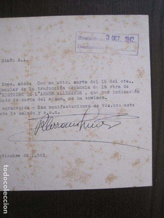 Coleccionismo Papel Varios: RAMON SERRANO SUÑER - AUTOGRAFO FIRMA- AÑO 1942 -VER FOTOS-(V-14.088) - Foto 5 - 116481563