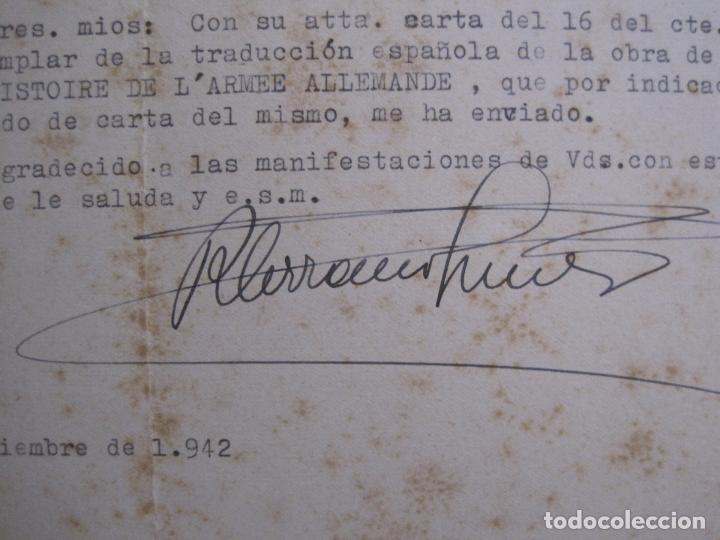 Coleccionismo Papel Varios: RAMON SERRANO SUÑER - AUTOGRAFO FIRMA- AÑO 1942 -VER FOTOS-(V-14.088) - Foto 8 - 116481563