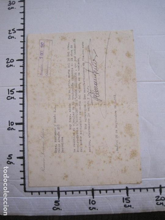 Coleccionismo Papel Varios: RAMON SERRANO SUÑER - AUTOGRAFO FIRMA- AÑO 1942 -VER FOTOS-(V-14.088) - Foto 9 - 116481563