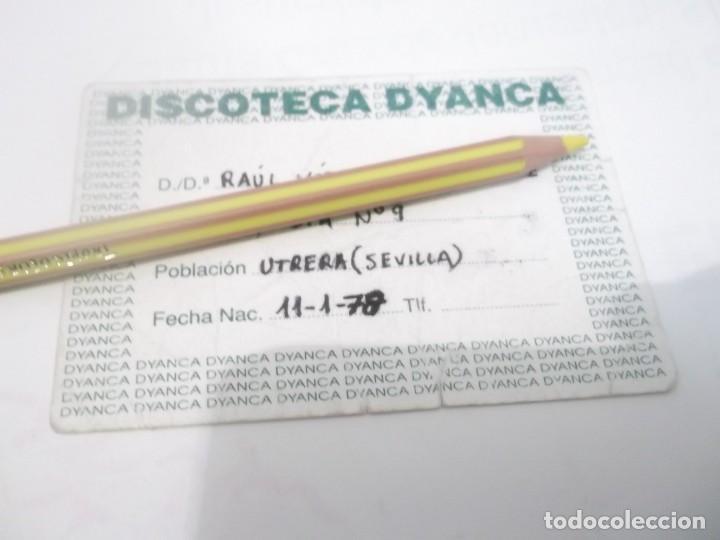 ANTIGUO PASE DISCOTECA DYANCA - UTRERA . SEVILLA AÑOS 90 (Coleccionismo en Papel - Varios)