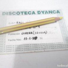 Coleccionismo Papel Varios: ANTIGUO PASE DISCOTECA DYANCA - UTRERA . SEVILLA AÑOS 90. Lote 116603195