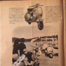 Coleccionismo Papel Varios: PUBLICIDAD MOTO VESPA DE 1968. Lote 116644331