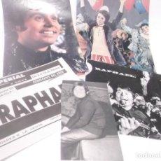Coleccionismo Papel Varios: RECORTES DEL CANTANTE ESPAÑOL RAPHAEL. Lote 117016351