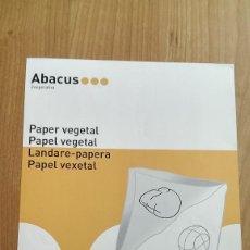 Coleccionismo Papel Varios: PORTADA PAPEL VEGETAL «ABACUS» . Lote 117138431