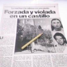 Coleccionismo Papel Varios: HOJAS ANTIGUAS PUBLICIDAD JOVEN FORZADA Y VIOLADA EN EL CASTILLO DE HUELMA. Lote 117321963