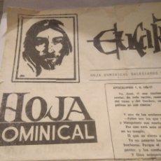 Coleccionismo Papel Varios: ANTIGUA HOJA DOMINICAL SALESIANOS UTRERA SEVILLA 1980,JOVENES CRISTIANOS SIN PALABRERIAS.VER FOTOS. Lote 117585756
