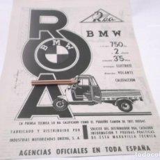 Coleccionismo Papel Varios: RECORTES PUBLICIDAD AÑOS 60 - MOTO ROA. Lote 117591215