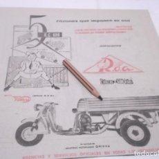 Coleccionismo Papel Varios: RECORTES PUBLICIDAD AÑOS 50/60 - MOTO ROA. Lote 117591339