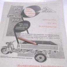 Coleccionismo Papel Varios: RECORTES PUBLICIDAD AÑOS 60 - MOTO ROA. Lote 117591899