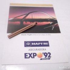 Coleccionismo Papel Varios: RECORTE CARTÓN PUBLICIDAD MAPFRE EXPO-92 SEVILLA . Lote 117688263