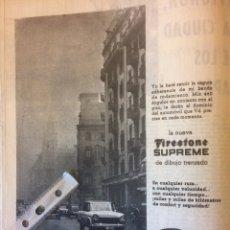 Coleccionismo Papel Varios: PUBLICIDAD NEUMÁTICOS FIRESTONE DE 1962 SEAT 1400. Lote 117714930