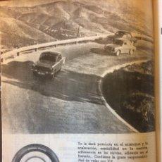 Coleccionismo Papel Varios: PUBLICIDAD NEUMÁTICOS FIRESTONE DE 1962 SEAT 1400. Lote 117715240