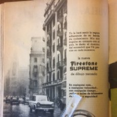 Coleccionismo Papel Varios: PUBLICIDAD NEUMÁTICOS FIRESTONE DE 1962 SEAT 1400. Lote 144256854