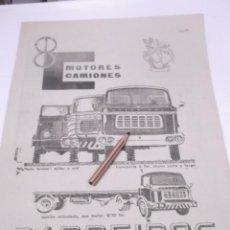 Coleccionismo Papel Varios: RECORTE PUBLICIDAD 50/60 - CAMIONES BARREIROS. Lote 117784011
