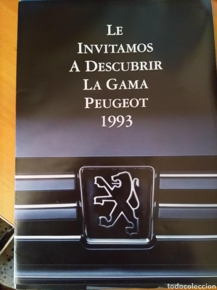 CATALOGO GAMA PEUGEOT 1993 (Coleccionismo en Papel - Varios)