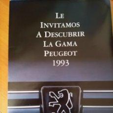 Coleccionismo Papel Varios: CATALOGO GAMA PEUGEOT 1993. Lote 117919702