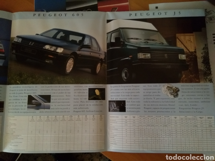 Coleccionismo Papel Varios: Catalogo Gama Peugeot 1993 - Foto 3 - 117919702