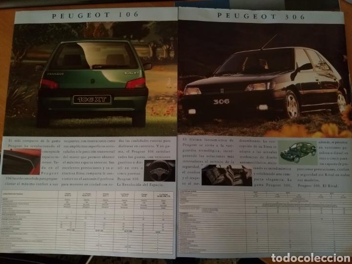 Coleccionismo Papel Varios: Catalogo Gama Peugeot 1993 - Foto 2 - 117919702