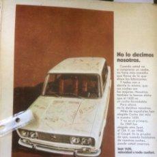 Coleccionismo Papel Varios: PUBLICIDAD AUTOMÓVIL SEAT 1430 DE 1970. Lote 118169356