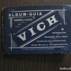 Coleccionismo Papel Varios: VICH- VIC- ALBUM GUIA -FOTOGRAFIAS VISTAS DE LA CIUDAD-FOT. HERMENEGILDO SERRA-VER FOTOS -(18224). Lote 118172415