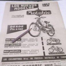 Coleccionismo Papel Varios: RECORTE PUBLICIDAD AÑOS 50/60 - MOTOBIC - EIBAR . Lote 118314095