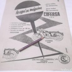 Coleccionismo Papel Varios: RECORTE PUBLICIDAD AÑOS 50/60 - MOTO COFERSA H.P. 1957. Lote 118314139
