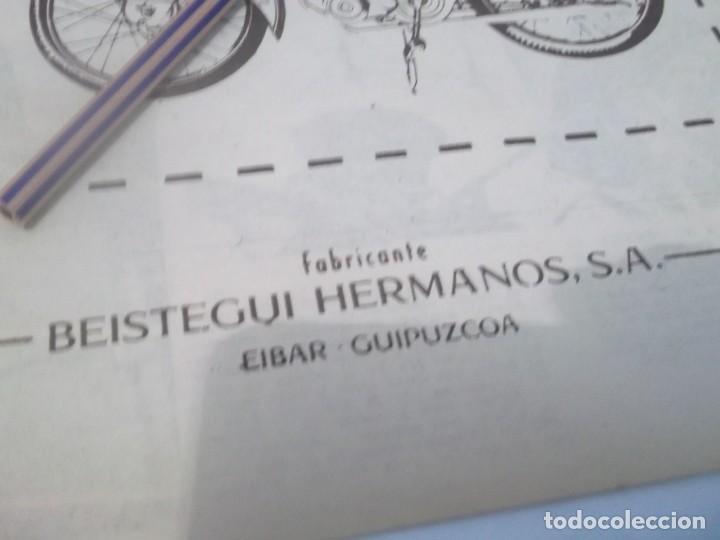 Coleccionismo Papel Varios: RECORTE PUBLICIDAD AÑOS 50/60 - MOTO .CICLOMOTOR BH - BEISTEGUI HNOS. -- EIBAR - Foto 2 - 118380315