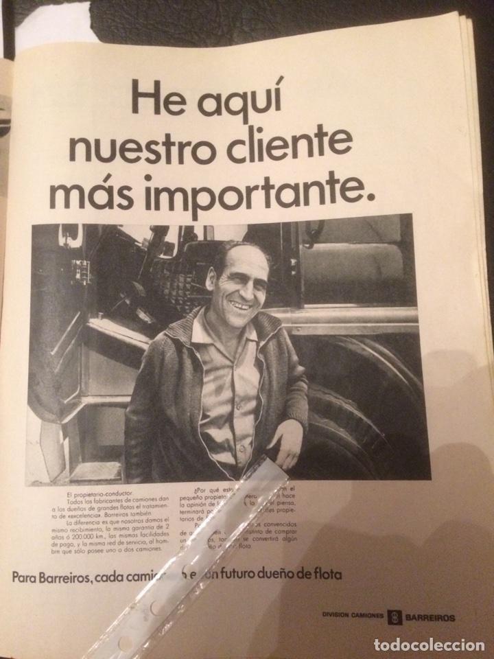 PUBLICIDAD CAMIÓN BARREIROS DE 1967 (Coleccionismo en Papel - Varios)